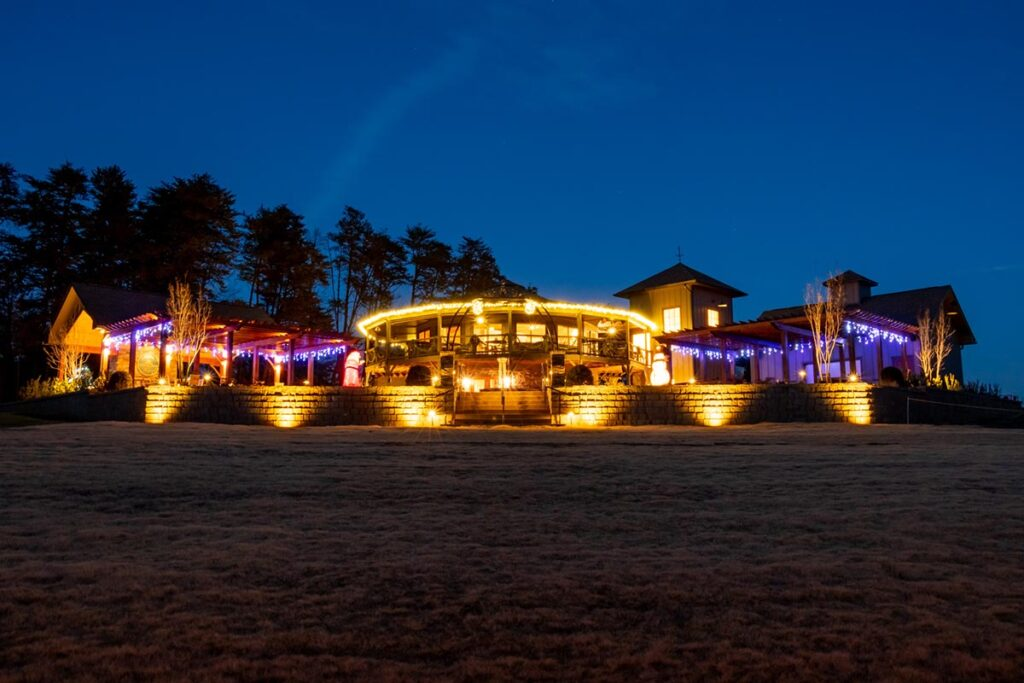 Mountain Brook Vineyards at Night