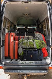Van In Black with Luggage