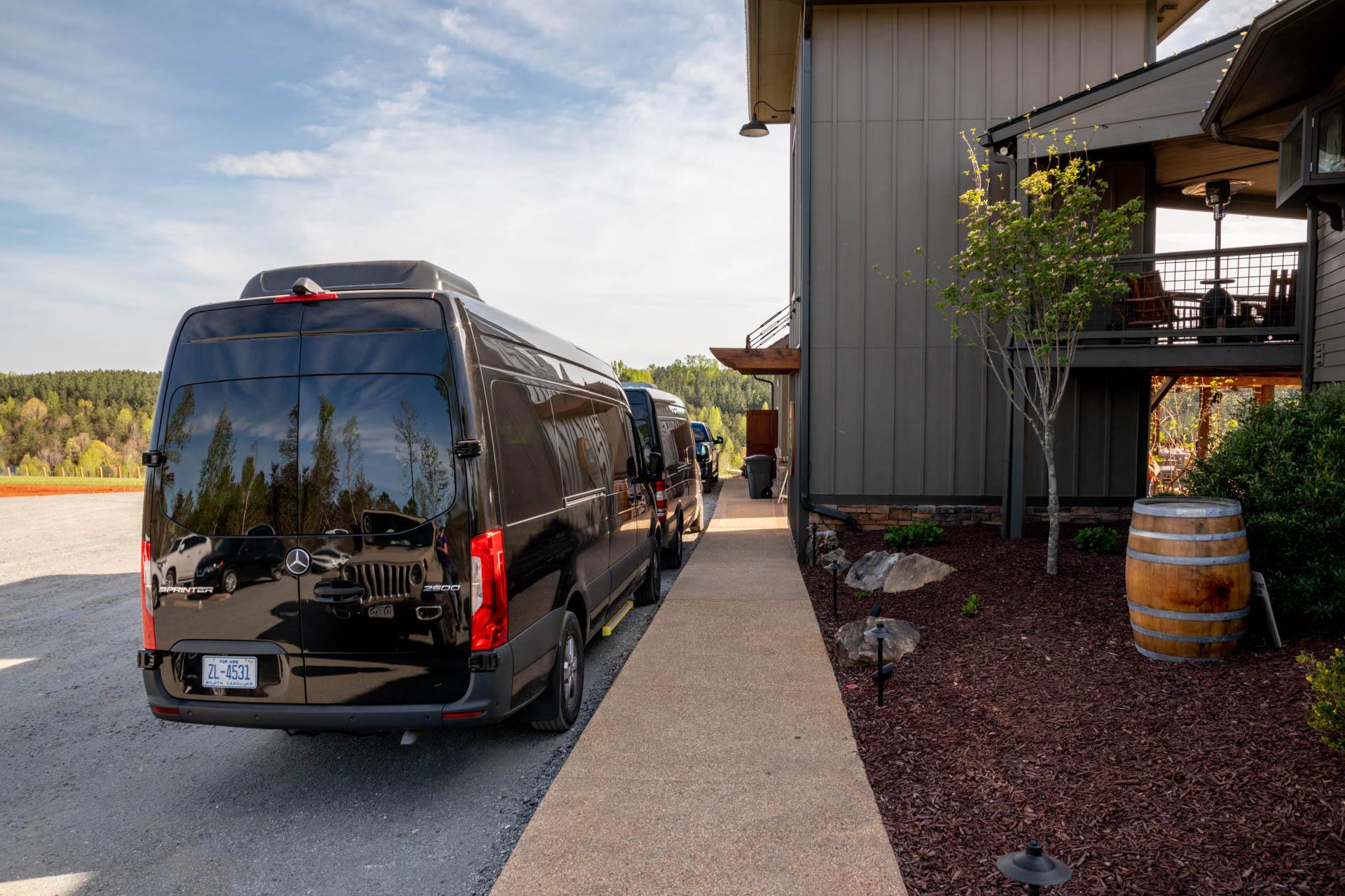 Corporate Travel by Van in Black