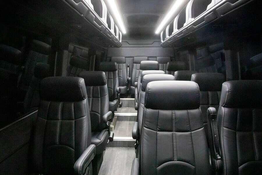 Van in Black 14 Passenger Luxury Van